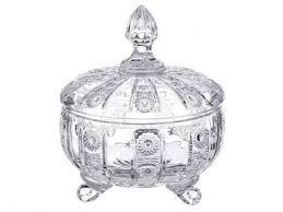 <b>Конфетница Lefard Muza</b> crystal 12х14см с крышкой,стекло ...