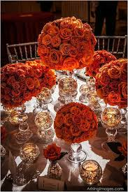 ideas burnt orange: burnt orange roses on glass vases love this colour