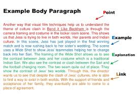 films essaybend it like beckham theme essay task example body paragraph