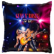 Рок-музыка : Подушка 3D - Guns n Roses двое поют - You2print.ru