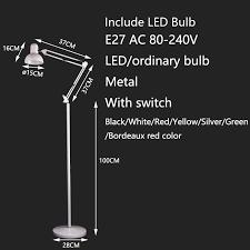 <b>Modern Nordic minimalist</b> wrought iron adjustable floor lamp E27 ...
