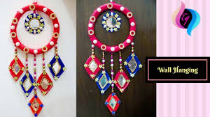 Waste material <b>wall hanging</b> - How to make <b>wall</b> hangings at home ...