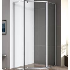 <b>Душевой уголок Cezares Eco</b> P-1 100х100 профиль хром стекло ...