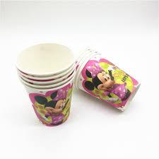 <b>10pcs</b>/lot Disney Minne <b>Mickey</b> Mouse Theme Paper <b>Cups</b> Drink ...