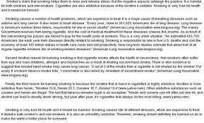 Argumentative Essay About Why Smoking Should Be Banned