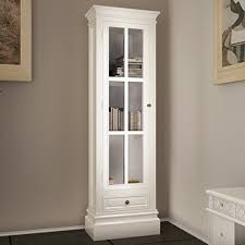 vidaXL <b>Chic Bookcase Cabinet with</b> 3 Shelves White Wooden Home ...