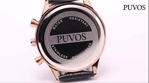 KoyieOfficial_ - <b>PUVOS</b> Men's Three-Eye Belt Quartz Watch...