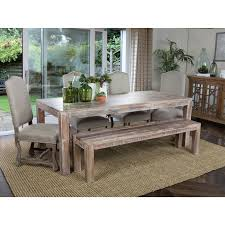 wooden dining table padded