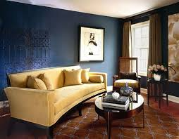 Navy Living Room Chair Interior Design Picture Of Navy Blue Living Room With Tufted Sofa