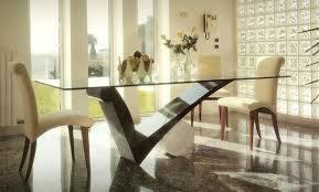 kitchen table sets bo: modern dining room design square glass unique dining tables