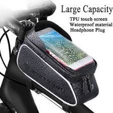Bike Front Frame Bag Waterproof EVA Resistant TPU Bike ... - Vova