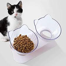 Queta <b>Cat</b> bowl elevated elevated vertical tilt <b>angle</b>, cute <b>cat ear</b> ...