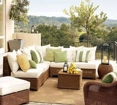 patio furniture small spaces choose small balcony furniture with patio sofa striped green pillows and smal