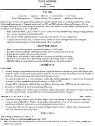 Resume Example  Trader Resume Example  Sample Cover Letter Examples   READ MORE