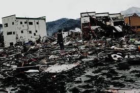 q sakamaki j tsunami    japan    s monster quake  amp  tsunami  latest    a young female survivor stuns looking at he destroyed scene of otsuchi  iwate  due
