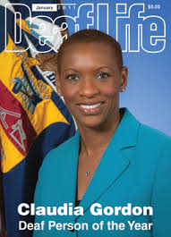 Deaf LIfe cover featuring Claudia Gordon, a black lawyer.
