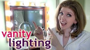 my vanity lighting how to apply makeup at night youtube best lighting for makeup vanity