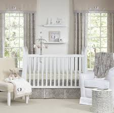 baby boys furniture white bed wooden impressive white gray color theme baby nursery decor furniture