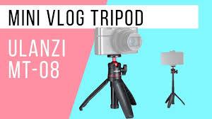 <b>ULANZI MT</b>-<b>08 Mini</b> Vlog Tripod / <b>Мини</b>-<b>штатив</b> с держателем для ...