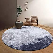 Modern Round Carpet <b>Super Soft</b> Bedside Rugs <b>European</b> Purple ...