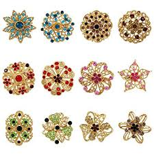 WeimanJewelry Yellow Gold Plated Lot 12pcs <b>Multicolor Crystal</b> ...