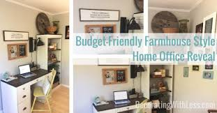 budget friendly farmhouse style home office reveal decorating with less budget friendly home offices