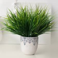 2018 <b>New 7 fork Green</b> Grass Artificial Plants For Plastic Flowers ...