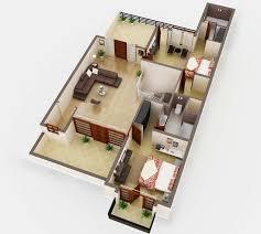 D Floor Plan Rendering house plan service company   Netgains D Floor Plan Rendering Service India