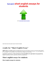 english essays for primary students  documents short english essays for students