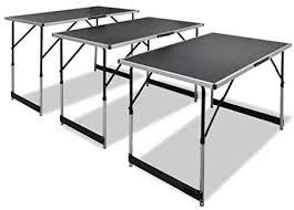 Tidyard <b>Pasting Table 3</b> pcs Foldable Height Adjustable 100 x 60 cm ...