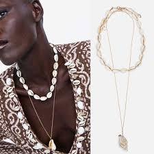 Dvacaman 2019 Trendy Women <b>Statement</b> Necklace <b>Shell Pearl</b> ...