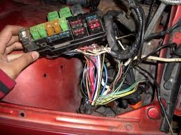 in hood fuse relay relocation simple nissan forum nissan forums i decreased the amount of wire clutter by having the white input of the alternator directly go to the fuse box and grounding the alternator to the body