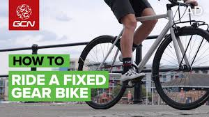 How To Ride A <b>Fixed Gear Bike</b> - YouTube