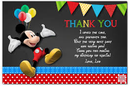 mickey mouse chalkboard clubhouse invitation thank you card mickey mouse chalkboard clubhouse invitation thank you card mm113