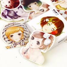 <b>45Pcs</b>/<b>много</b> милые девушки бумажные наклейки DIY дневник ...