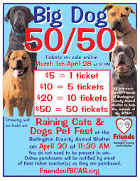 big dog raffle tickets now on friends of burlington big dog 50 50 raffle tickets now on