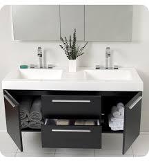 picture of fresca opulento black modern double sink bathroom vanity w medicine cabinet bathroom basin furniture