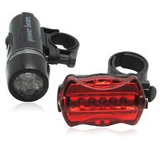 Waterproof <b>5 LED Bicycle Bike Front</b> Head Light Torch Rear Safety ...
