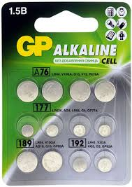 Купить <b>батарейку GP</b> LR41, LR44, LR54, LR626, 12 шт ...