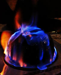 Bildergebnis für burning christmas pudding