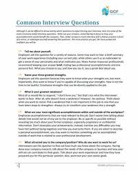 What to Prepare Before an Interview Tutorial at GCFLearnFree Common Interview Questions Document