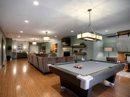 good family room lighting ideas for basement with best snooker table and warm interior design using popular color schemes amazing family room lighting