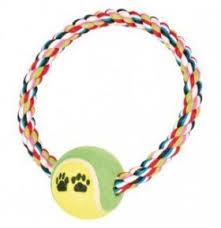 <b>Игрушка</b> д/собак <b>Trixie</b> Канат тенис.мяч <b>18см</b> 3266 1шт, <b>Игрушки</b> ...