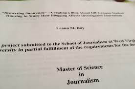 leann inspecting sunnyside and will be 2 p m thursday 26 in room 301 of martin hall my project focused on how blogging and social media affect investigative journalism