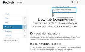 how to digitally sign a pdf for in under minutes dochub import new document