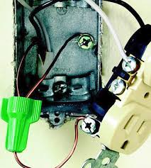 code bathroom wiring: with a metal box attach ground wires to both the receptacle and to the box using a grounding screw use a pigtail and a grounding wire nut