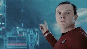 Simon Pegg as Scotty in Star Trek: Into Darkness