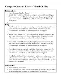 cover letter compare and contrast essay outline example compare cover letter comparisoncontrast essaycompare and contrast essay outline example large size