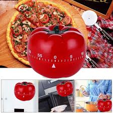 Hot Sale 1PC 1 60min 360 Degree Tomato <b>Timer Creative Kitchen</b> ...