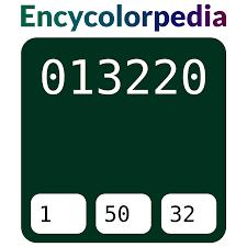<b>Тёмно</b>-<b>зелёный</b> / #013220 Схемы Шестнадцатеричных Кодов ...